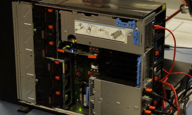 A Dell VRTX server