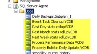 SQL Server Agent Jobs for vCenter Server