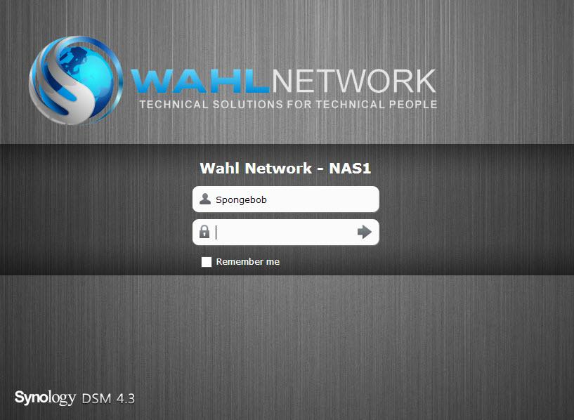 nas-login - Wahl Network