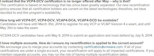 vSphere 4 based exams are retiring soon