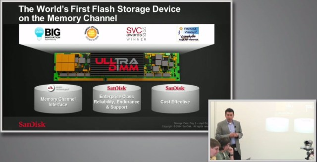 My front row view of the SFD5 live stream featuring SanDisk