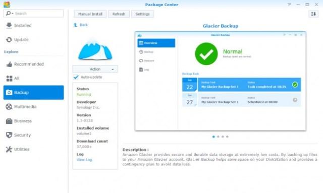 Synology Glacier Backup App