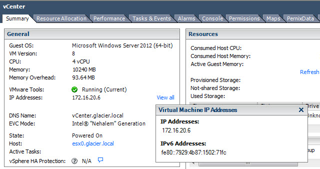 Applying New IP Addresses to vCenter, ESXi Hosts, and