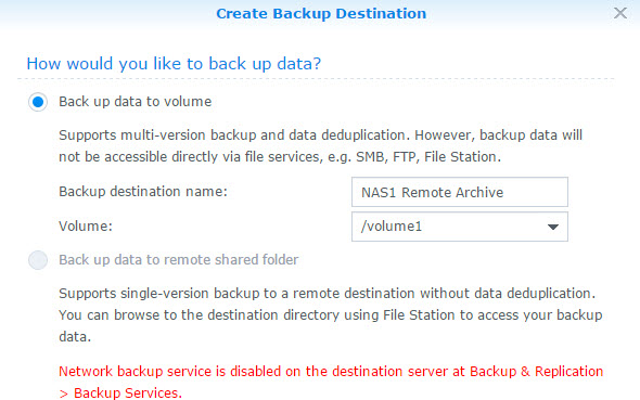 Back Up Data Config