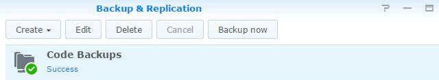 Successful Backup