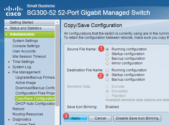 Save your configuration