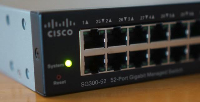 SG300-52 Powered On