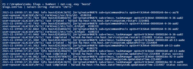 search-host-logs