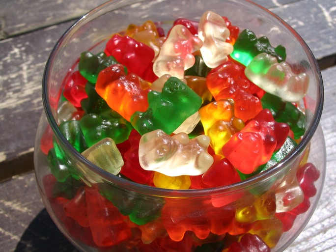 An array of gummy bears!
