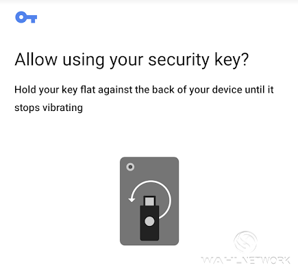 The final step is to authorize the request. Tap the YubiKey NFC against the phone once more.