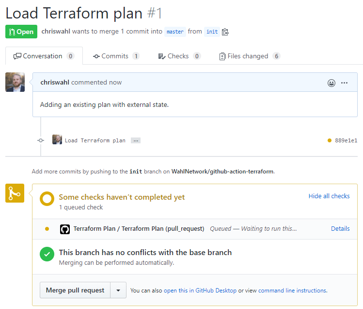 Checking the Terraform Plan