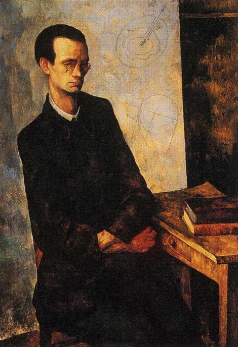 El Matemático, 1918 de Diego Rivera (1886-1957, Mexico ...