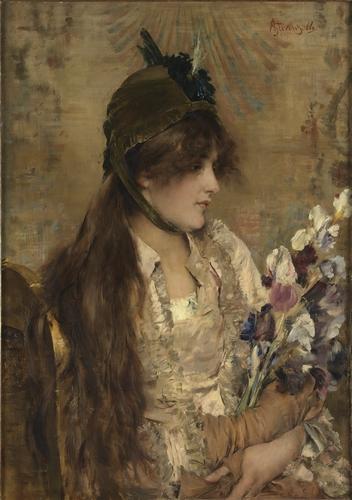 La Bête à Bon Dieu : bête, Bête, Alfred, Stevens, (1823-1906,, Belgium), Paintings, Reproductions