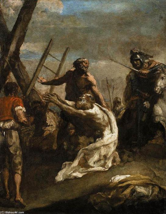 Martyrdom Of St Andrew By Guillaume Courtois 1628 1679
