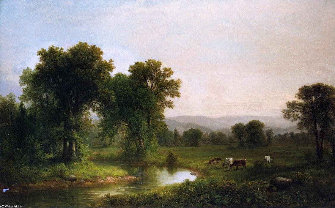 Pastoral Landscape 1866 by Asher Brown Durand 17961886