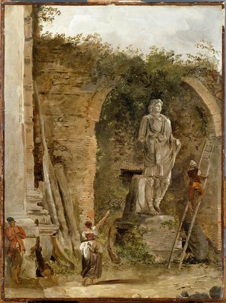 Robert Niche Painting : robert, niche, painting, PAYSAGE, STATUE, NICHE, Hubert, Robert, (1733-1808,, France), Museum, Quality