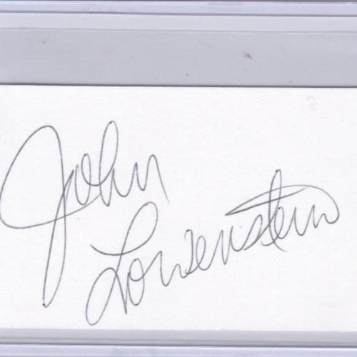 John Lowenstein Cut Autograph