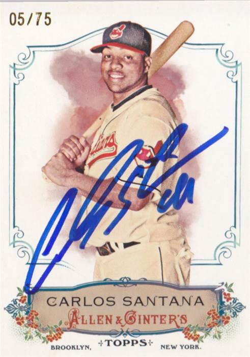 New Arrival Carlos Santana 1bdh Cleveland Indians Wahoo Cardboard