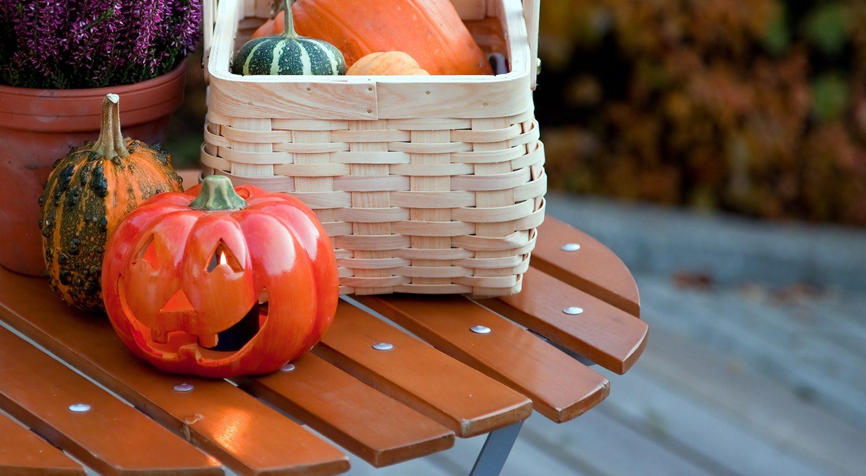 Aluminum Deck Design Ideas: Easy Tips for Decorating Your Deck for Fall   Wahoo Decks Aluminum Decking Deck Railing