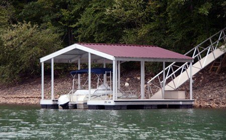 Wahoo aluminum boat docks single slip docksv