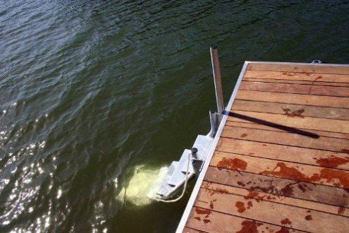 5 step stair dock ladder