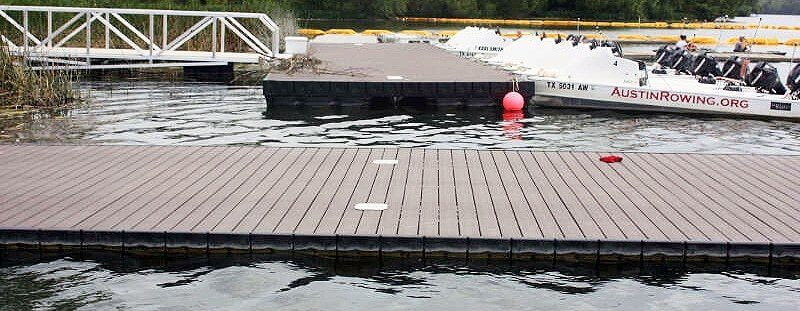Aluminum Rowing Low Profile Dock Texas