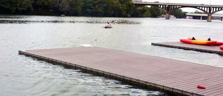 Low Profile Rowing Platform Dock Floats