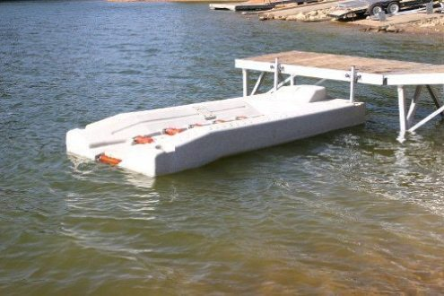 PWC perma-port for a wahoo floating boat dock