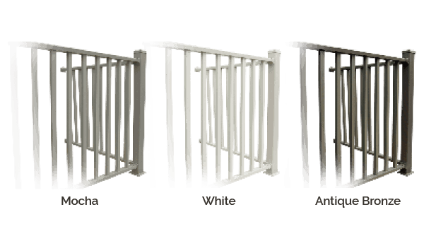 Wahoo Aluminum Docks Dock Railing Colors