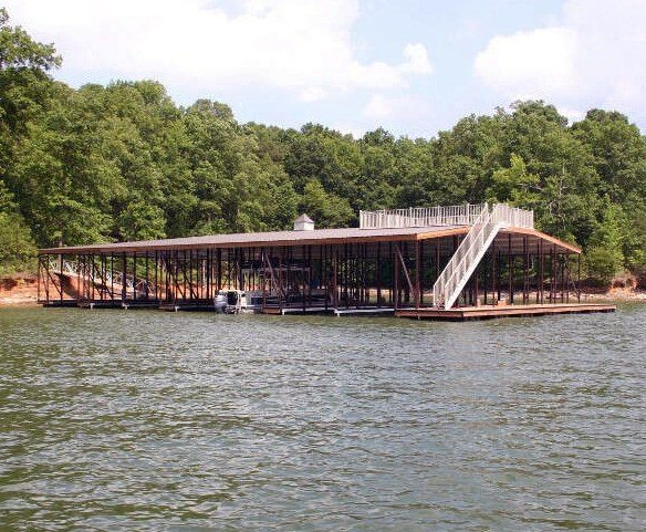 wahoo aluminum docks commercial community dock with upper deck and aluminum dock stairs