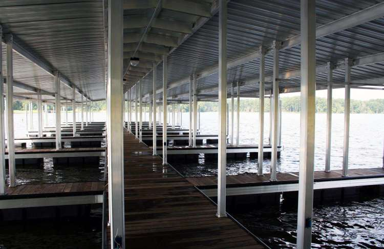 wahoo aluminum docks commercial marine construction at percy quinn state park 02 with ipe dock decking