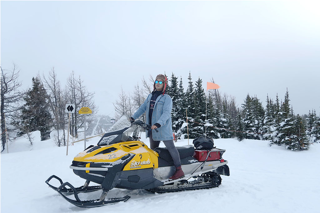 Canadian Travel Blogger Jonathan Waiching Ho_Visit Lake Louise_What To See in Banff_Explore Canada_Style Influencer Canada_Luxury Blogger_Snowmobiling in Canada Lake Louise_2