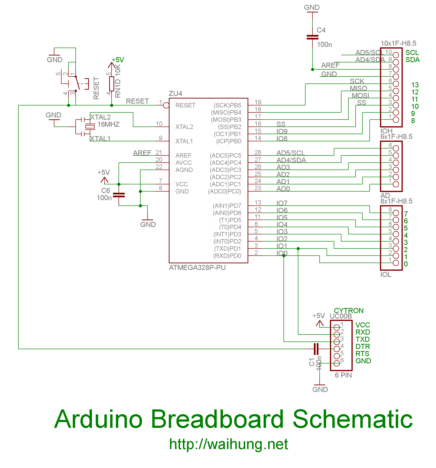 breadboard wiring diagram forward reverse switch making your own arduino part 2 on