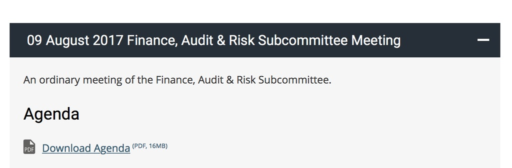 Finance, Audit, Risk Subcommittee Meeting.