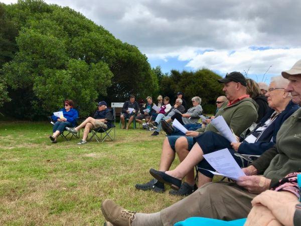 Some attending Waikawa Beach Ratepayers Association AGM 2017.