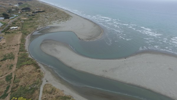 Aerial shot of the river taken by Blair Rogers January 2018.