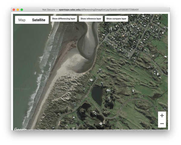 Waikawa Beach on Google Maps.