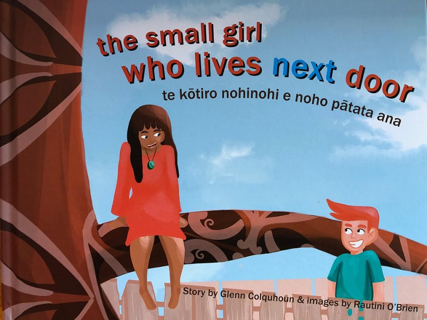 Book cover: The Small Girl Who Lives Next Door.
