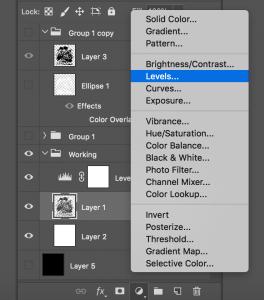 Photoshop Levels Adjustment Layer