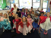The Diamond princesses, kitty cat, knight in shining armor and their King Mrs D!