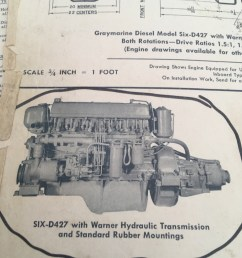 thetis engines 2 x graymarine 4 cycle 6 cyl installed 1960  [ 3024 x 4032 Pixel ]