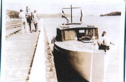 Opua Wharf 1935