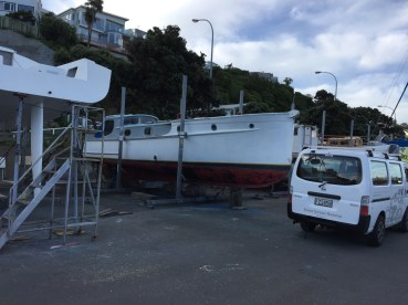 Hauled out at Evans Bay Slipway