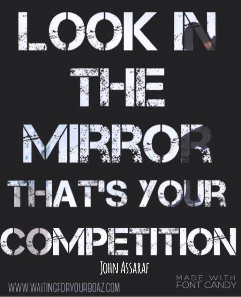 look in mirror