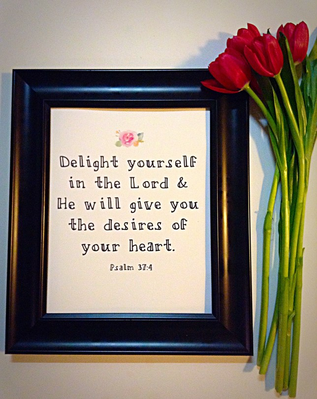 """""""Delight in the Lord"""" Framed Artwork"""