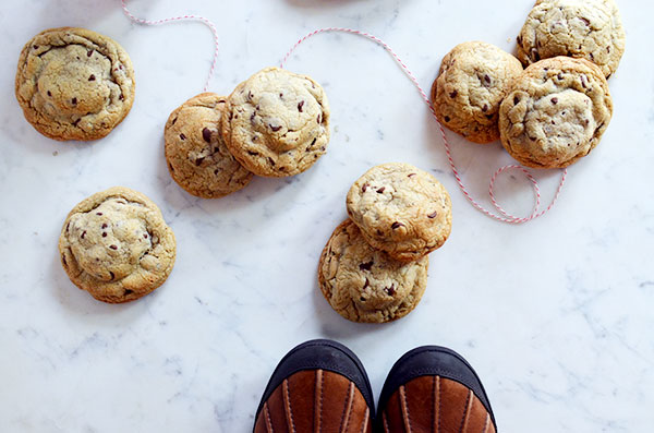 Peppermint Chocolate Chip Cookies