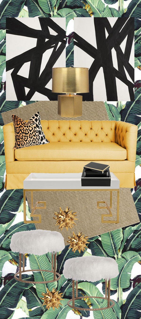 Mandy Kellogg Rye E Design Beverly Hills Hotel Martinique Wallpaper