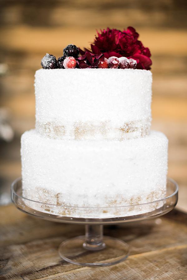 Stunning wintry cake, Waiting on Martha