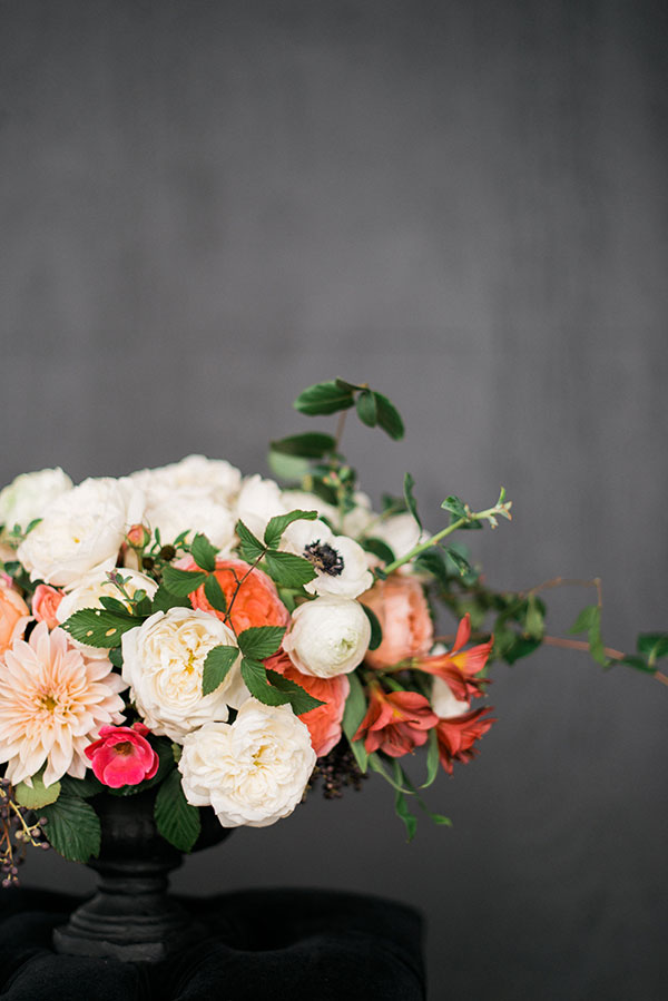 Wedding flowers by Lovely Little Details and Waiting on Martha for The Celebration Society. Rustic White Photography