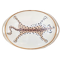 Hand Painted Leopard Tray, Waiting On Martha